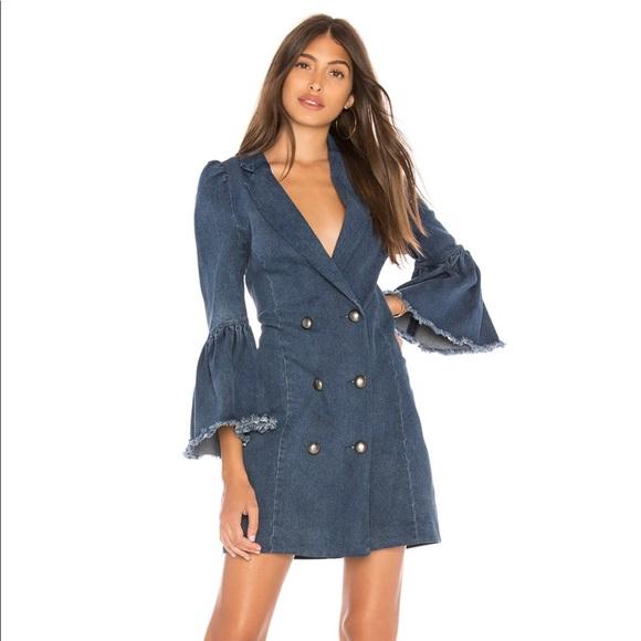 revolve Dresses & Skirts - Marled by Olivia Culpo • RUFFLE CUFF BLAZER DRESS